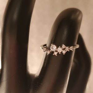 Scatter band cz ring